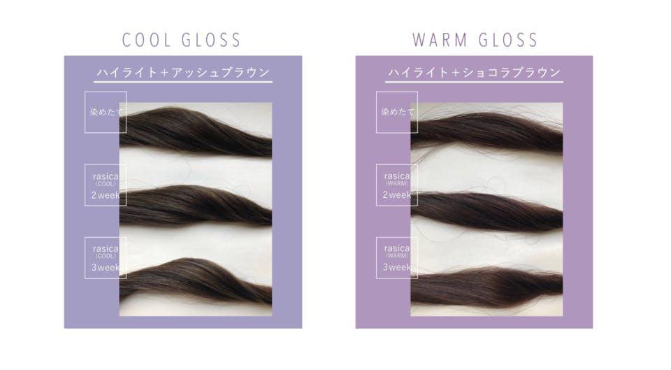 「warm」と「cool」の2つから選べる<br>