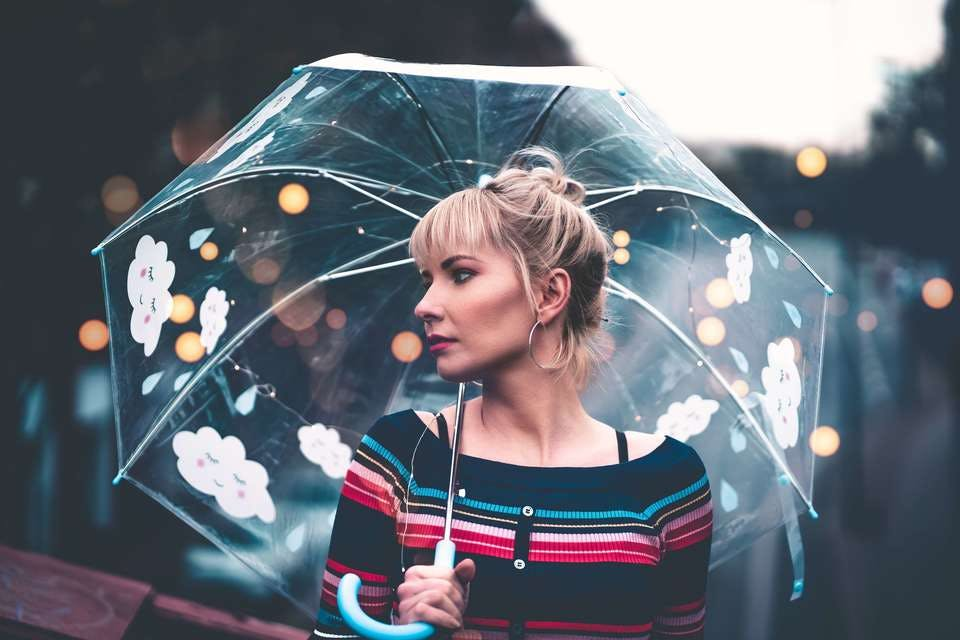 梅雨でも前髪カーラー