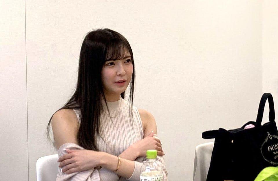 あゆあゆのインタビュー風景