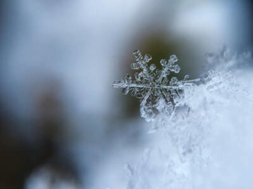 冬 ネイル スノーフレーク