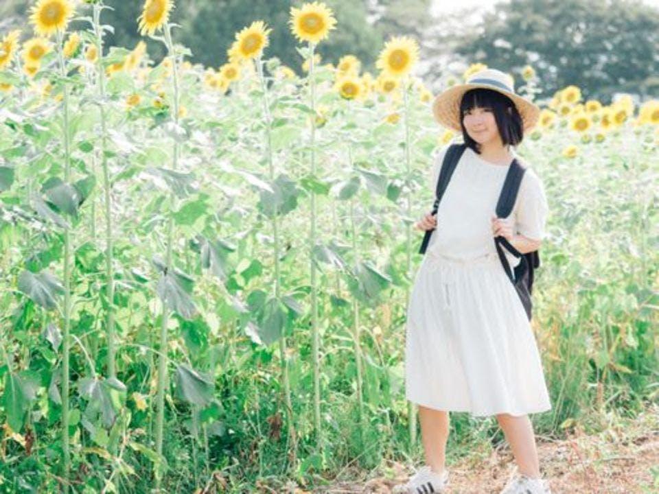 ひまわり畑の少女